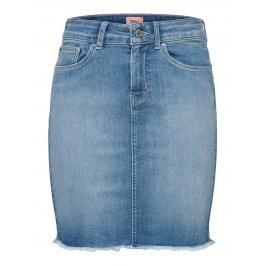 Review ONLY Denim Minirok Dames Blauw