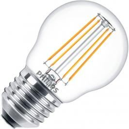 Review Philips kogellamp LED filament helder 4W (vervangt 40W) grote fitting E27