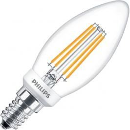 Review Philips kaarslamp LED filament helder 5W (vervangt 40W) kleine fitting E14
